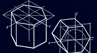 How to draw hexagonal prism