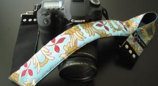 Как надеть ремень на фотоаппарат