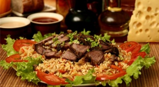 How to cook pilaf in Kazakh