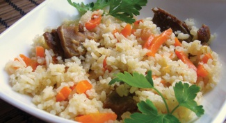 How to cook vegetable pilaf with mushrooms