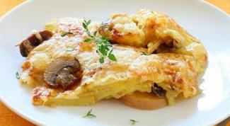 Как сделать овощную запеканку с грибами и курицей