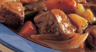 Как приготовить говядину, тушенную в квасе