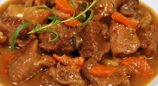 Как приготовить говядину, тушеную с овощами