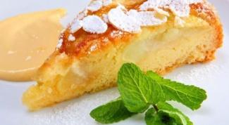 Как приготовить песочный торт с персиками