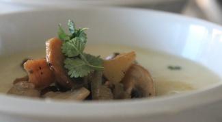 Как сделать грибной суп с черносливом