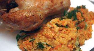 Как приготовить курицу с красной чечевицей