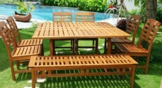 Как поставить садовую мебель