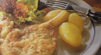 How to cook pork baked with cheese and eggs