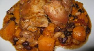 Как приготовить курицу с картофелем и фасолью