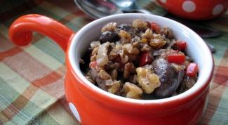 Как приготовить куриные сердечки в ореховом соусе