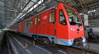 A new train running in the subway
