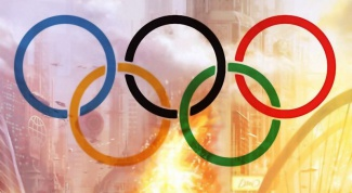 That means Olympic symbols of the 5 rings