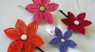 Как сделать заколку-цветок в технике ганутель