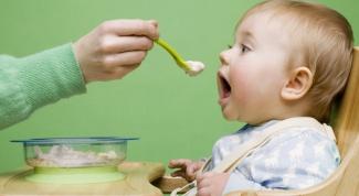 Примерное меню ребенка одного года