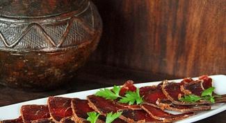 Delicious basturma Armenian