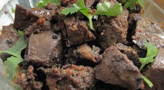Острая говяжья печень: как готовить