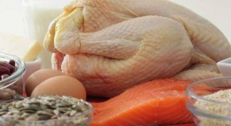 The content of protein in various foods