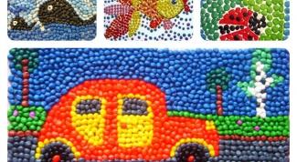 Детские поделки из пластилина и крупы