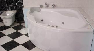 Нестандартная угловая ванна из литого акрила