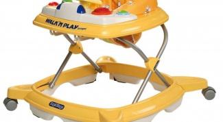 Когда можно использовать детские ходунки?