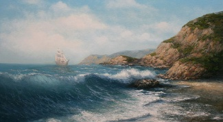 How to draw a seascape colors