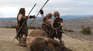 Как древние люди охотились