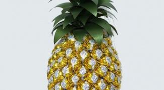 Как сделать ананас из конфет