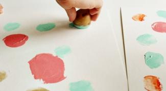 Как рисовать с помощью картофеля