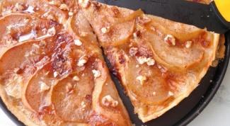 Как приготовить пирог с грушей и сыром