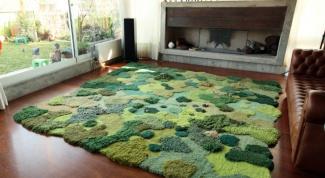 Рельефные (скульптурные) ковры в интерьере