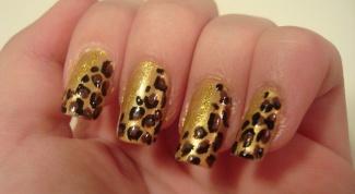 Как сделать леопардовый узор на ногтях