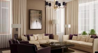 Выбор штор для гостиной
