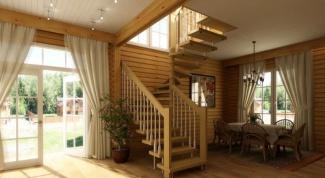 Деревянные лестницы для загородного строительства