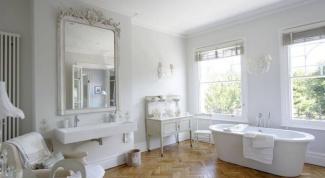 Белоснежная ванная комната: подбор материалов