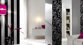 Черно-белые обои в интерьере - для любителей острых ощущений