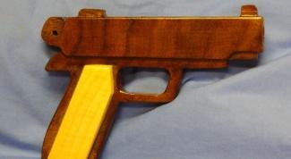 Как сделать игрушечный пистолет из дерева