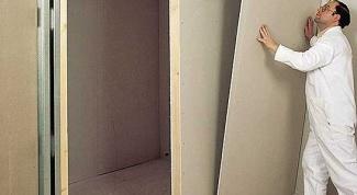 Как наклеить гипсокартон  на стены