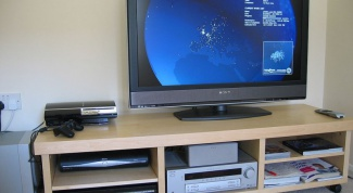 How to configure the monitor under the TV