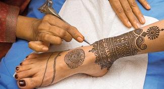 Как сделать временную татуировку хной в домашних условиях