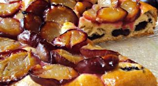 Вкуснейший сливовый пирог с маковой начинкой
