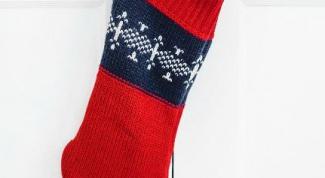 Как сделать новогодний носок из свитера