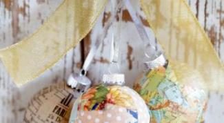 Как сделать новогодние шары из ткани