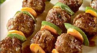 Шашлык из рубленого мяса