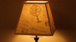 Оригинальный абажур для настольной лампы своими руками