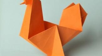 Как сделать петушка из бумаги?