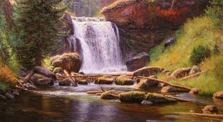Как нарисовать водопад карандашом поэтапно?