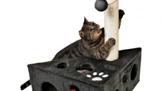 Как смастерить домик для кошек своими руками
