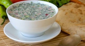 How to make okroshka with kefir