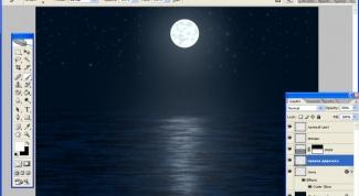 Как нарисовать лунный свет в фотошопе