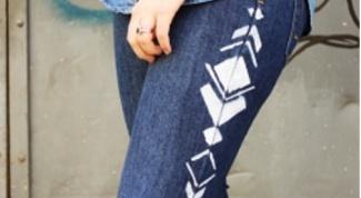 Как расписать джинсы в домашних условиях